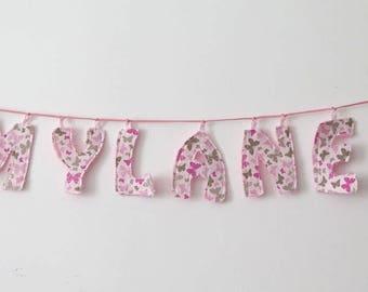 Child's room letters cloth/sponge decoration Garland
