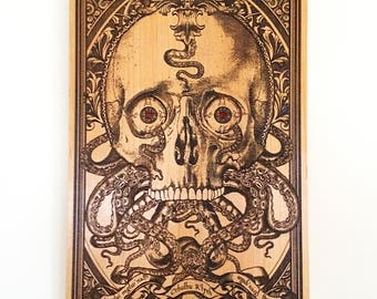 Cthulhu, Hp Lovecraft, Man Cave Wall Art, Man Cave Art, Gothic Wall, Skull Collectible Art, Gift Anniversary for Him, Boyfriend Gift Poster