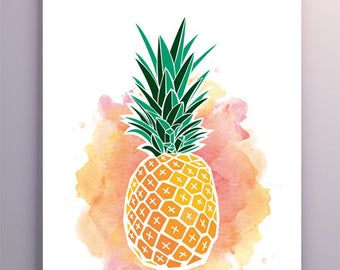 "Image printable high-definition digital ""Pineapple"""