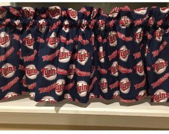 """MLB Minnesota Twins Baseball Valance Curtain 55""""W x 13"""" L"""