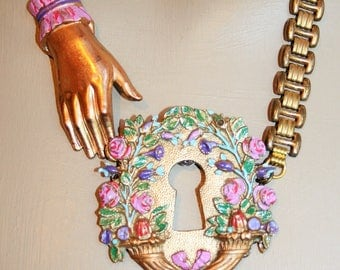 Baroque necklace - my SECRET garden