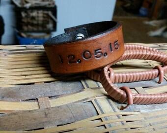 Leather Bracelet- Custom