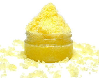 Lemon Sugar Scrub  - Choose Size - Exfoliating Body Scrub, Face Scrub, Moisturizing Sugar Scrub.