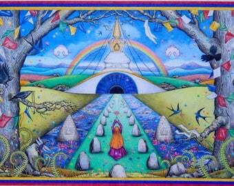 A4 Print 'Visions of Samye Ling'