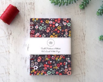 Flowers Coptic Notebook Coptic Journal Blank Book Writing Journal Diary Travel Notebook Hardcover Hand Bound 160 Lined White Pages