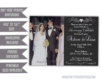 items similar to 25th anniversary party invitations 25th wedding