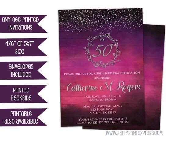 Woman birthday invitations pink and purple adult birthday il570xn filmwisefo