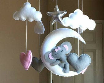 Crib mobile,Baby mobile star,Baby mobile boy,Baby mobile girl,Boy nursery mobile,Girl nursery mobile,Baby mobile white grey,