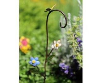 Fairy Garden  - Bloomin Flowers Shepherd Hook - Miniature