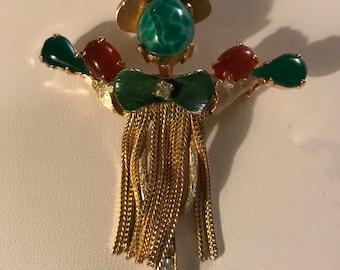 Vtg Scarecrow pin