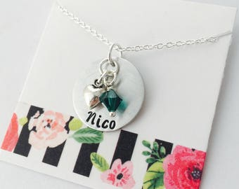 Name Necklace, Personalized Mom Necklace, Personalized Birthstone Necklace, Personalized Necklace - Custom Name Necklace