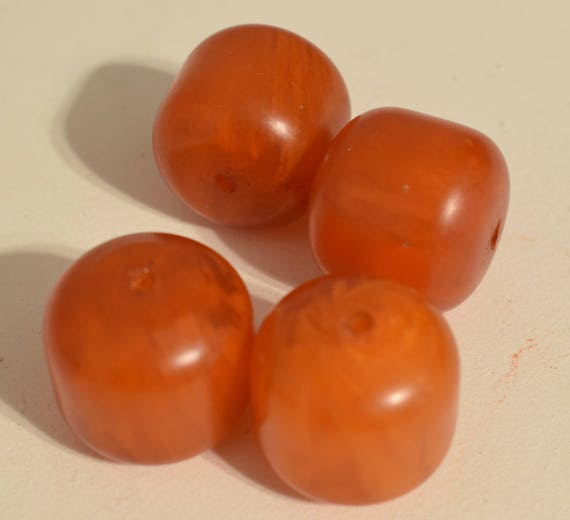 Beads Copal Amber Large Round Jewelry Necklaces Dark Orange Oval Amber Beads