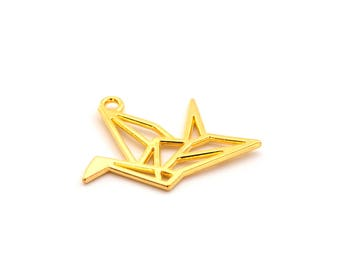 Origami crane color charm