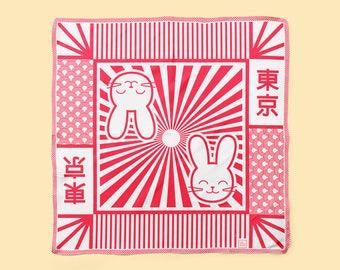 Bunny Bae Silk Neckerchief // Square neckerchief scarf