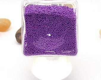 Ring cubic globe filled with purple Pearlescent square