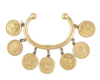Chanel Rare Coin Charm Cuff