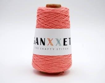 SMALL Ganxxet Cotton Cones - Salmon; cotton string, macrame cord, macrame cotton cord