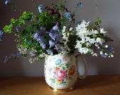 RESERVED - Punton Vintage Sadler Jug With Pink Roses, Flowers. Vintage Sadler Pitcher, A Great Milk Jug Or Creamer, Or A Vase For Flowers