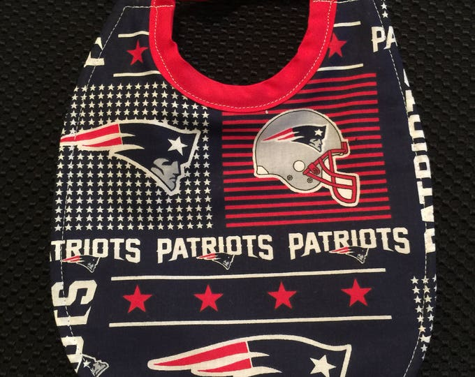 Baby Bib New England Patriots Inspired Fabric Print, Available in 3 Sizes and 3 Different Fabric Prints!