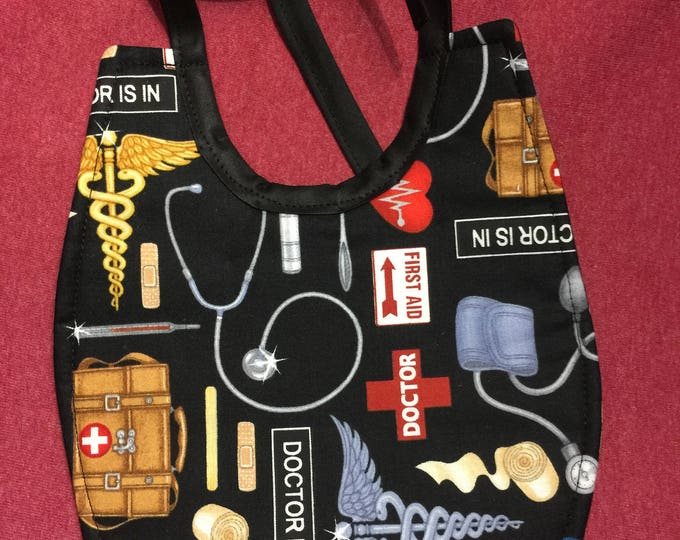 Baby Bib Police, Fire & EMS Fabric Print: Choose From 6 Different Designs !
