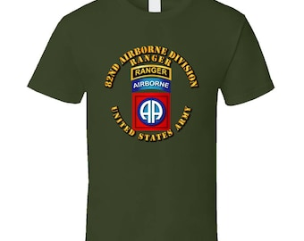 Army - 82nd Airborne Division - Ssi - Ranger T-shirt
