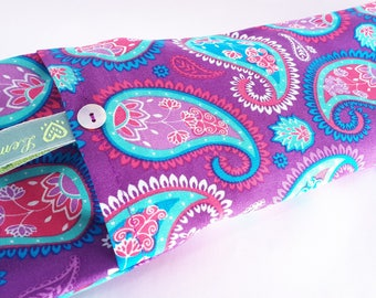Soothing Lavender Eye Pillows - Purple Paisley Pattern