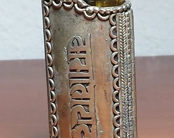 Chant Written Metal Lighter Case