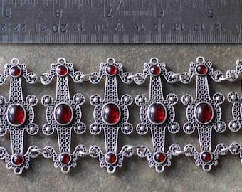 Oriental Ottoman Style Silver plated Tribal Boho Bracelet