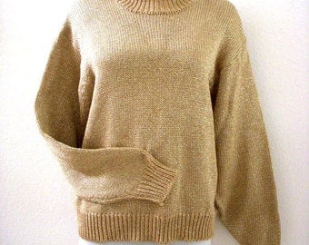 Gold sweater | Etsy