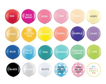 Jumbo Balloon - 3' latex balloon - Engagement Shoots - Birthday - Weddings - Valentine's Day - custom colors