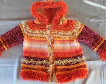 knitted coat, child, 2 years, hand knitted