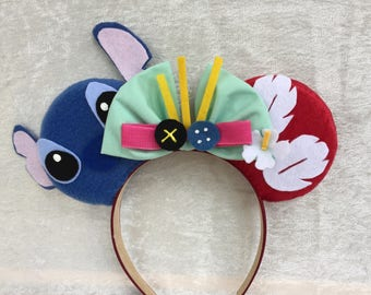 Lilo and Stitch Themed Mouse Ears