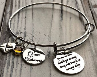 Those We Love Don't Go Away Wire Adjustable Bangle Bracelet
