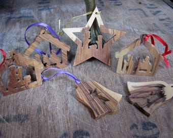 Wood Decorations, Wooden Decorations, Nativity Decorations, Christmas Decoration, Vintage Decoration, Vintage Christmas, Rustic Christmas
