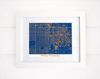 Urbana-Champaign, Illinois Map! University of Illinois