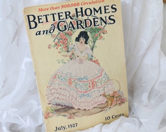 Vintage Better Homes and Gardens Magazine from July 1927