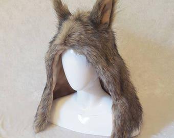 Natural Brown Critter Hood