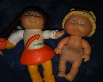 Choose from 2 80s pvc Cabbage Patch dolls 3 to 3.5 inches