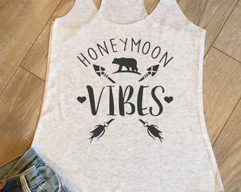 Honeymoon Vibes, Boho Bride, Bride vibes, bride tank, bride hoodie, wedding, bride gift, from Ms to mrs, honeymoon shirt, bride to be,  W068