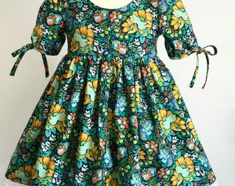 Baby Girl Dresses, Baby Bloomers, Baby Dress for Wedding, Girls Boutique Dress, Floral Dress, Fall Dress, Girls Dresses, Toddler Girls Dress