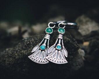 """Silver handmade earrings """"Nefertem"""""""