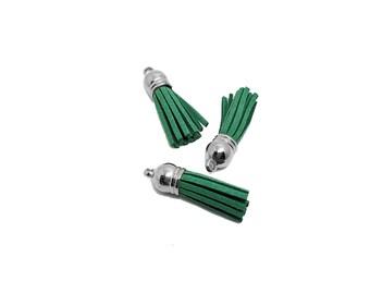 Tassels - Small Tassels - 10 Green Tassels - Tassel Charms - Tassels For Jewelry - Diy Key chain Tassel - Wine Charm Tassels - TC-S141