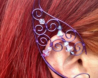 Regal Plum Elf Ears - Copper Wire