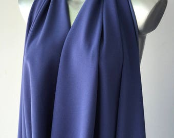 Air Force blue stretch pebble crepe fabric 2 way stretch textured polyester spandex 150cm 60 inches