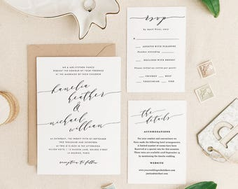 Wedding Invitations Template Printable Wedding Invitation