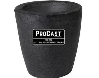 ProCast™ Premium Black No. 1 - 1 Kg Foundry Crucible Gold Precious Metal Casting Refining - CRU-0116