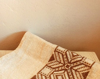 Vintage/table runner/table linen/tapestry/boho/folk/hippie/natural/earth tone/jungalow