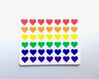 Rainbow Hearts // Fun Postcard // Single Postcard