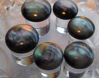 Black Galaxy Plug, 0g Plug, 00g Plug, 0 Gauge, 00 Gauge, 1/2 inch, 5/8 inch
