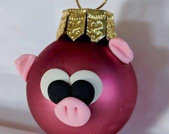 Pig ornament | Etsy